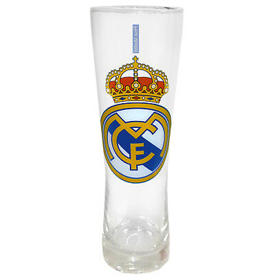 Real Madrid Official Soccer Gift Peroni Style Tall Pint Glass