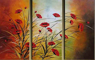 3pc Modern Abstract Large Oil Painting On Canvas Art (No Frames)
