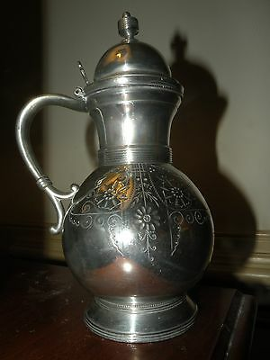 ANTIQUE ROGERS SILVERPLATE SILVER PLATE syrup pitcher jug