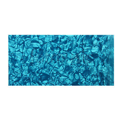 Blue Pearl Celluloid Guitar Head Veneer Shell 1.5mm Thickness