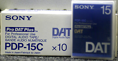 SONY PDP-15C PROFESSIONAL DAT TAPE BOX of 10 TAPES New & Sealed FOR DAT RECORDER