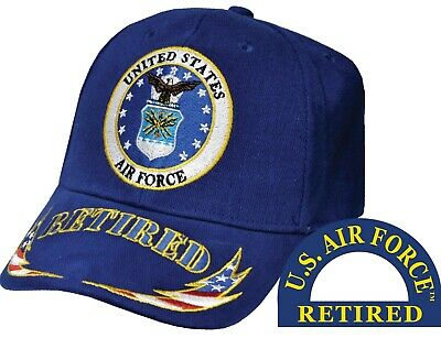 United States Air Force Retired Wreath Blue Hat Cap USAF