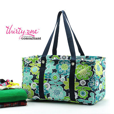 NEW Thirty One LARGE UTILITY tote laundry Bag 31 gift in Best Buds retired