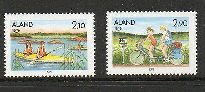 Aland 1991 Nordic Countries Postal co-operation SG50-51 unmounted mint stamps