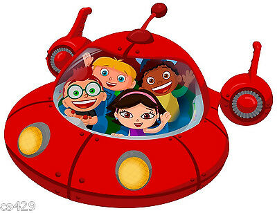 "10"" Large Little Einsteins Spaceship  Character Birthday Wall Decor Cut Out"