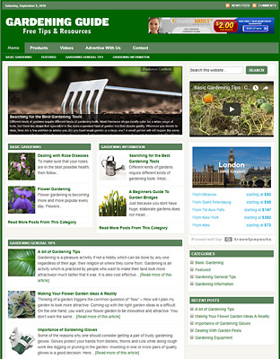 GARDENING WEBSITE BUSINESS FOR SALE - Free Installation Provided