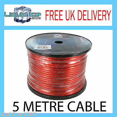 5M 15A Red & Black 12V 2Mm Single Core Strand Positive Or Negative Cable Wiring