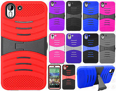 FOR HTC DESIRE EYE Impact Hard Rubber Case Phone Cover