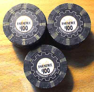 5 - $100. Par-A-Dice Casino Chips - East Peoria, Illinois - Shipping Discounts