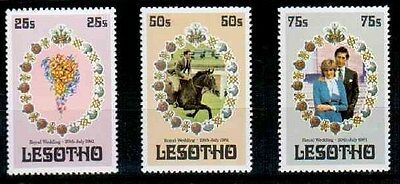 1981 Lesotho Royal Wedding 3 Values Unmounted Mint SC548