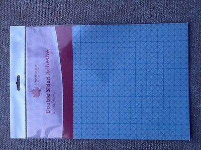 WoodwareDouble sided A4 Adhesive paper 4 sheet pack FREE POSTAGE