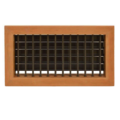 Rinker 848555 Cherry Wood / Aluminum 10 X 5 Inch  Louvered Boat Ac Vent Grill