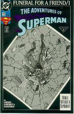 Adventures of Superman # 498 (Funeral For A Friend part 1, 2nd print)(USA, 1993)