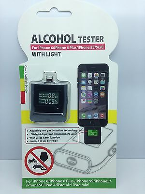 Lot Of 2 New Alcohol Tester Breathalyzer For Iphone 6 6 Plus 5 5S 5C Ipod