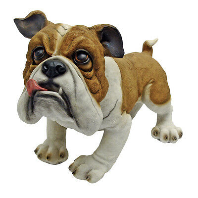 Whimical British Bulldog Garden Sculpture Canine Statue