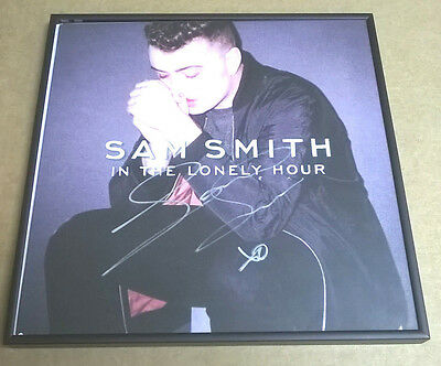 SAM SMITH Signed + Framed In The Lonely Hour Vinyl Record Album