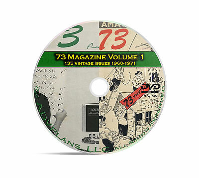 73 Magazine Volume 1, 1960-1971, 135 Ham Amateur Crystal Radio Magazine DVD B96