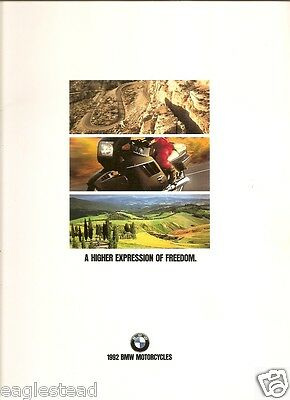 Motorcycle Brochure - BMW - Product Line Overview - 1992 (DC228)