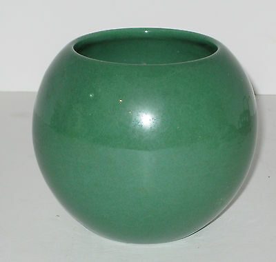 Haeger Pottery Green Ball Shaped Planter Org Sticker