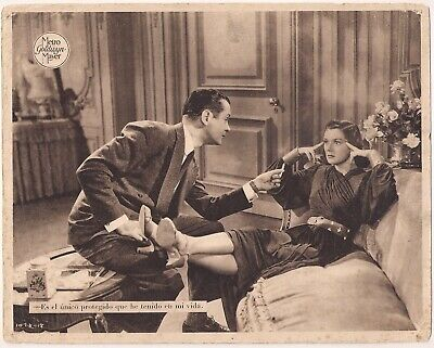 F10534 FAST AND LOOSE ROSALIND RUSSELL ROBERT MONTGOMERY MGM Lobby Card Spain A