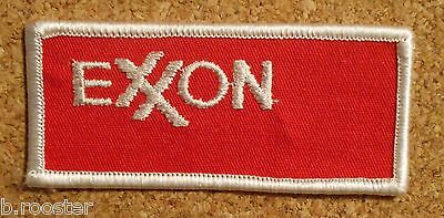 Exxon Gasoline Patch Embroidered Oil 3-3/8 inches REd