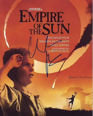 Christian Bale Signed Autographed 8x10 Empire of the Sun Photograph