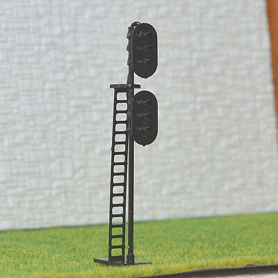 2 pcs HO Scale 1:87 LEDs Made 2 heads Railroad Signals 3 over 3 (R/Y/G + Y/G/R)