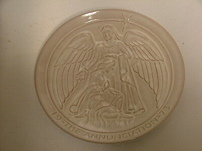 Nice Frankoma Collectible Plate 1973 The Annunciation