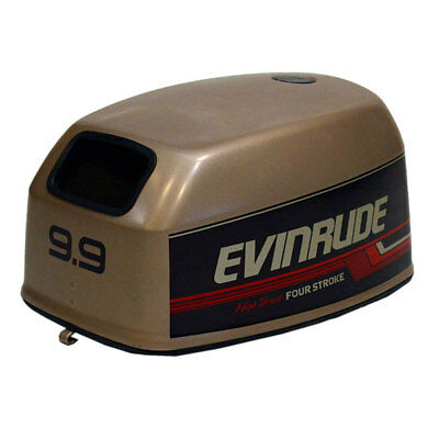 Evinrude Brp / Omc 9.9 Four Stroke High Thrust Brown Boat Motor Top Cowling