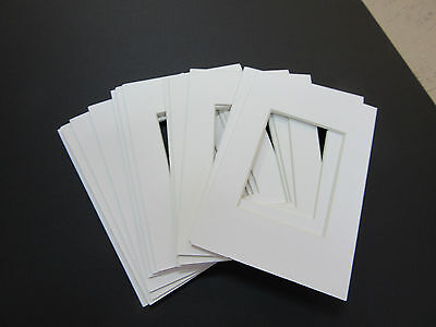 Picture Frame Mats 4x6 for 2.5x3.5 photo or ACEO set of 12 pure white mats