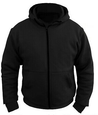 MOTORCYCLE HOODIE FULLY REINFORCED WITH DuPont™ KEVLAR® ARAMID FIBRE CE ARMOURED