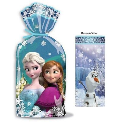 Disney Frozen Party Cellophane Lolly Loot Treat Favour Bags Sacks (Pack Of 16)