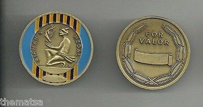 Airman's Medal For Valor  Ribbon  Engravable Challenge Coin