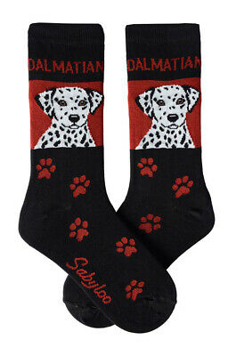 Dalmatian Socks Lightweight Cotton Crew Stretch Egyptian Made