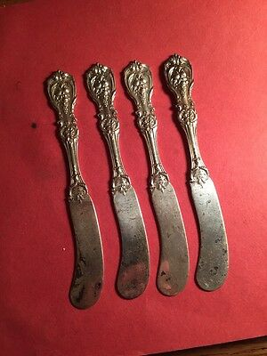 4 Sterling Silver Butter Knives Weighs 82 DWT Or 4.1 Troy Ounces Reed & barton