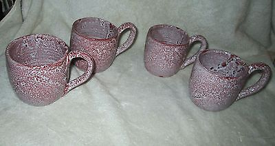 COLE POTTERY-Four Mugs Signed Neolia Cole-SANFORD, NC
