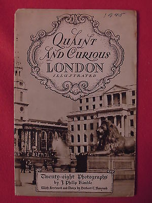 1945 Quaint and Curious London Illustrated Informational Travel Booklet