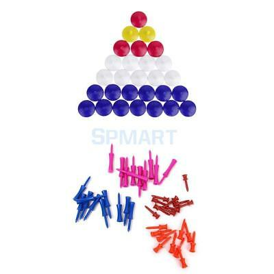 40PCs Mixed Color 4-SIZE Plastic Step Down Castle Golf tees with 50 Ball Markers