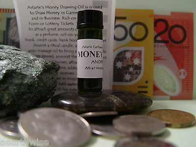 1 x MONEY DRAWING OIL Wicca Witch Pagan Goth ATTRACT MONEY  PROSPERITY ABUNDANCE