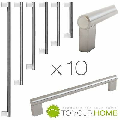 10 Boss Bar Stainless Steel Kitchen Cupboard Cabinet Drawer Door Handles 6 Sizes