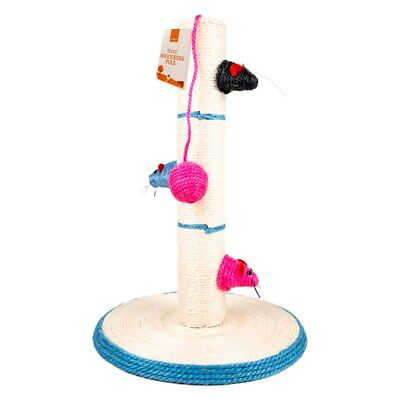 Cat Kitten Scratching Pole Post Pet Toy Sisal Tree Scratcher Play Activity Kitty