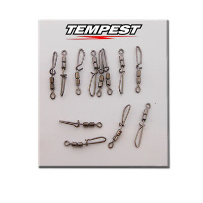 Kit 6 Girelle Rolling N. 10 Doppia Catena Con Moschettone Tempest Pteu64