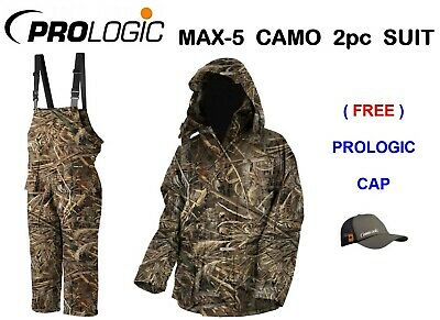 NEW PROLOGIC MAX-5 CAMO THERMO COMFORT 2pc SUIT FISHING HUNTING SHOOTING HIKING
