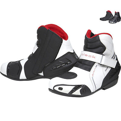Black Circuit Short Ankle Motorcycle Sports Bike Boots in All Sizes GhostBikes