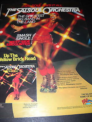 SALSOUL ORCHESTRA 1978 Disco Promo Ad DISCO ROLLERBLADE