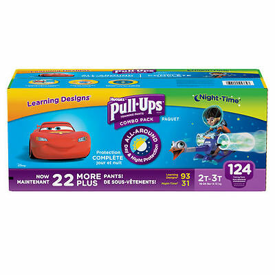 Huggies Pull Ups Training Pants For Boys Size 2T - 3T (124 Total)