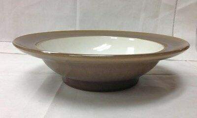 "Denby ""Truffle"" Wide Rim Soup/Cereal Bowl 9"" Stoneware New Made In England"