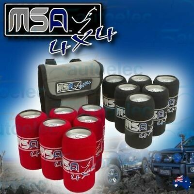 12x MSA TINNIE BEER BOTTLE TRAVEL SLEEVES PROTECTORS BAG ICE BOX COOL TRAVELLING