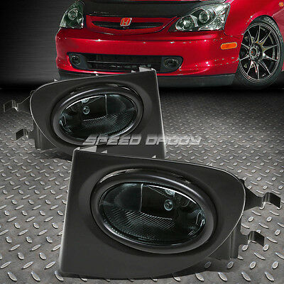 SMOKE LENS DRIVING BUMPER OEM FOG LIGHT/LAMP+SWITCH FOR 02-05 CIVIC SI EP3 3DR