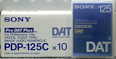 SONY PDP-125C PROFESSIONAL DAT TAPE BOX of 10 TAPES New & Sealed